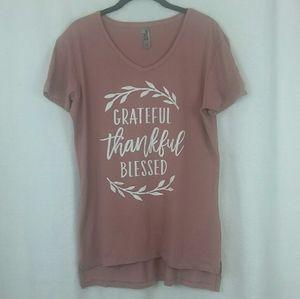 Grateful Thankful Blessed Women's  Graphic Tshirt